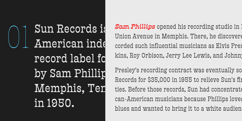 Presley Slab font family · Sudtipos com